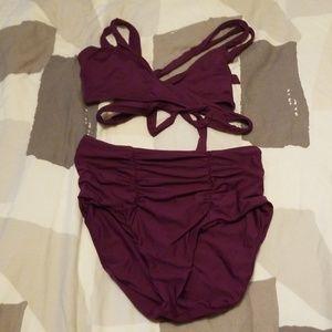 [Becca] Color Code wrap high waist bikini L DD